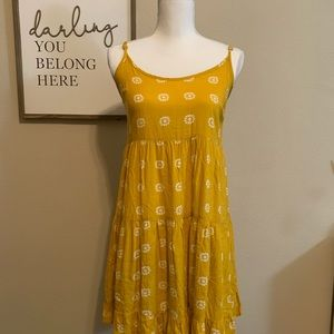 Mossimo Mustard Floral Dress